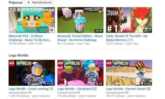 Zašto djeca na YouTubeu toliko vole gledati kako drugi igraju videoigre?