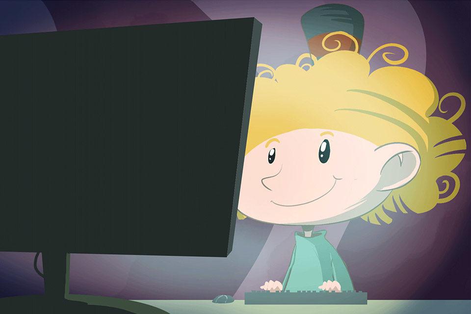 Interaktivna slikovnica o korištenju interneta za predškolce