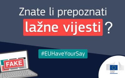 Europska komisija provodi javno savjetovanje o lažnim vijestima