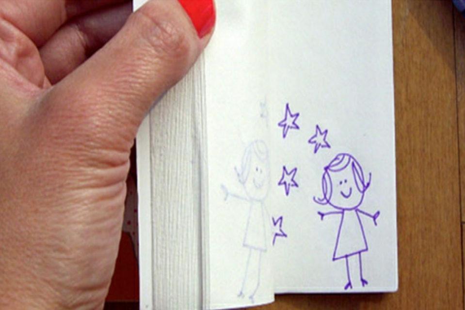 Prvi 'animirani film' vašeg djeteta: upute za izradu flip booka