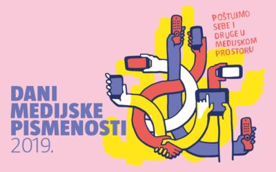 Dani medijske pismenosti 2019. – Raspored događanja