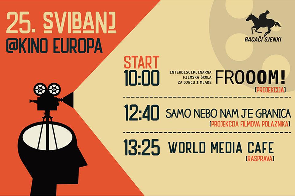 Filmska revija Bacača sjenki i rasprava o medijskoj pismenosti u kinu Europa