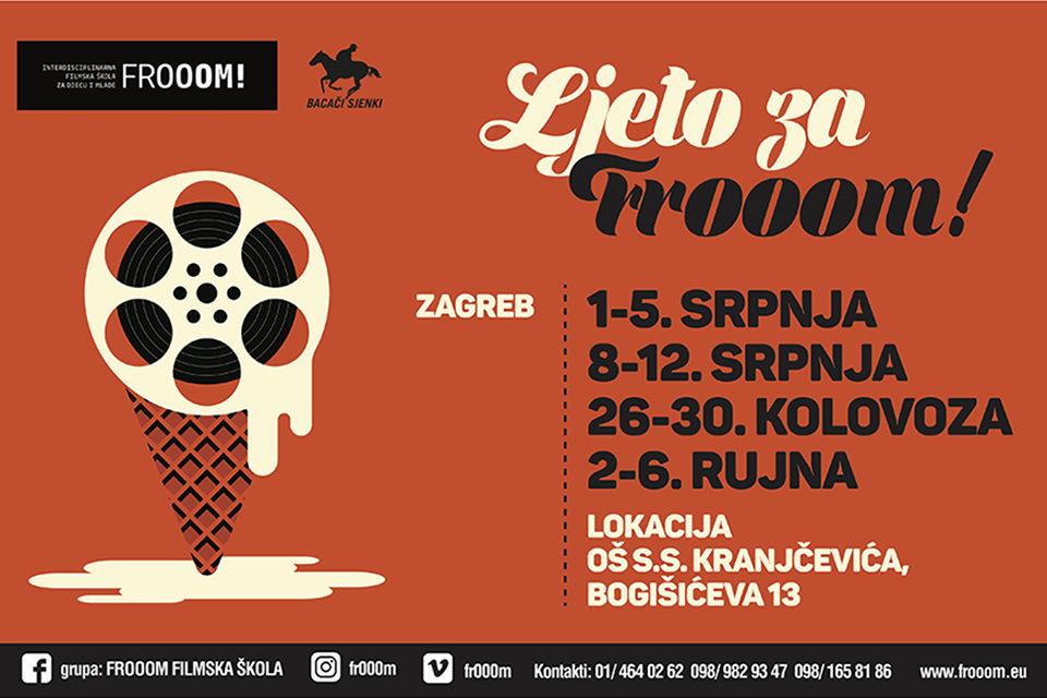 Ljetni programi filmske škole za djecu i mlade Frooom!