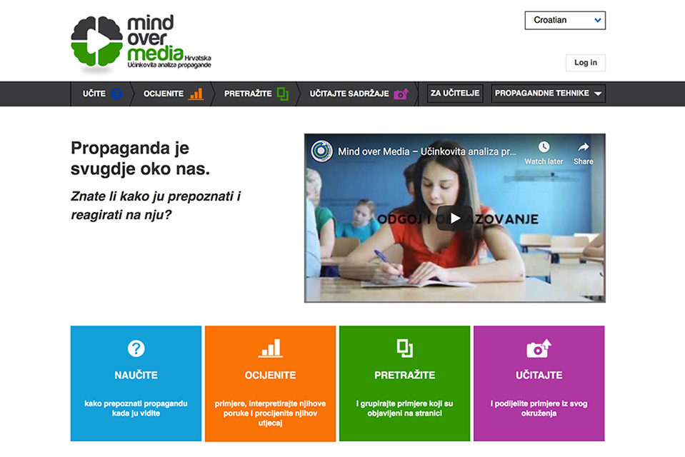 Platforma s primjerima i kurikulima za poučavanje o propagandi