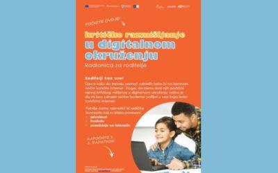 Materijal za roditelje: Kritičko razmišljanje u digitalnom okruženju