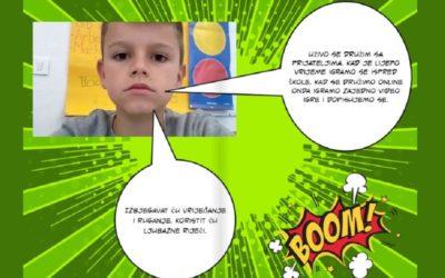 Druženje uživo i online: digitalna strip-knjiga učenika 2. razreda