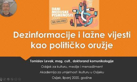 Video lekcija: Dezinformacije i lažne vijesti kao političko oružje