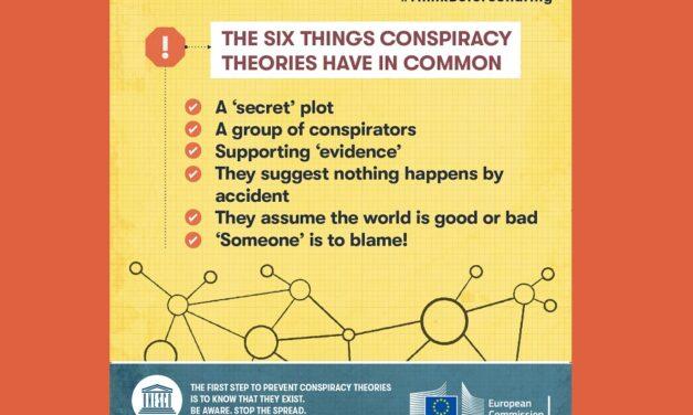 Edukativne infografike o teorijama zavjere