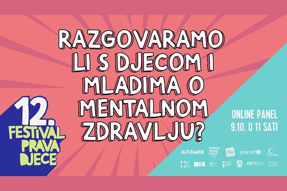 Panel o mentalnom zdravlju djece i mladih tijekom pandemije
