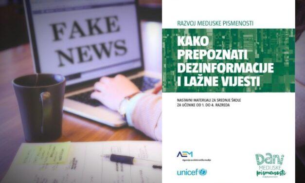 Nastavni materijali o dezinformacijama i lažnim vijestima