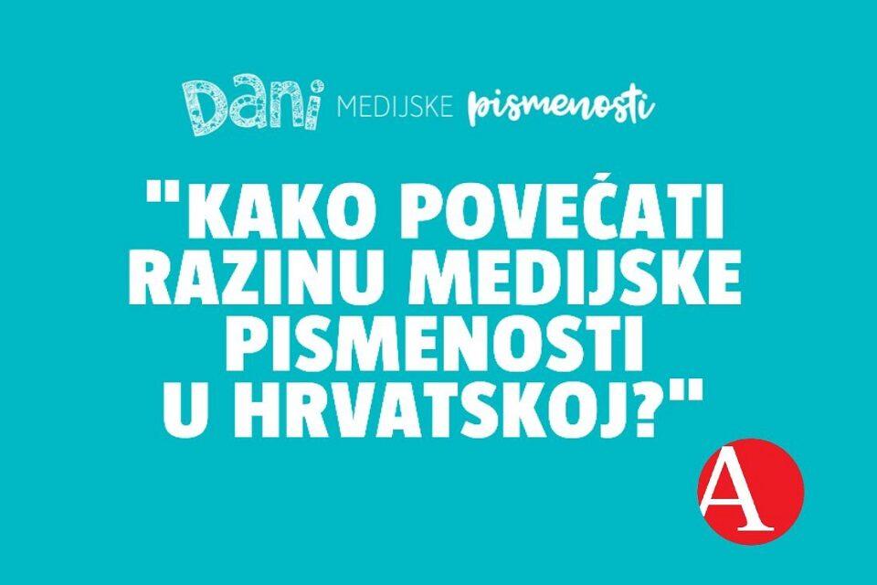 Panel o medijskoj pismenosti u Hrvatskoj – uživo i online