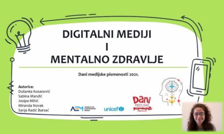 Video lekcija: Digitalni mediji i mentalno zdravlje